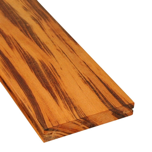 5/4 x 6 Tigerwood Wood Pregrooved Decking Sample