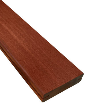 5/4 x 4 Massaranduba Wood Pregrooved Decking Sample