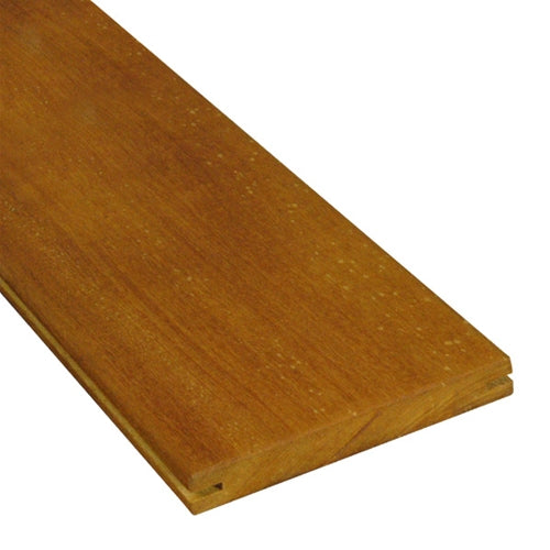 1 x 6 Garapa Wood Pregrooved Decking
