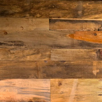 Heavy Rustic Pine Accent Wall Paneling