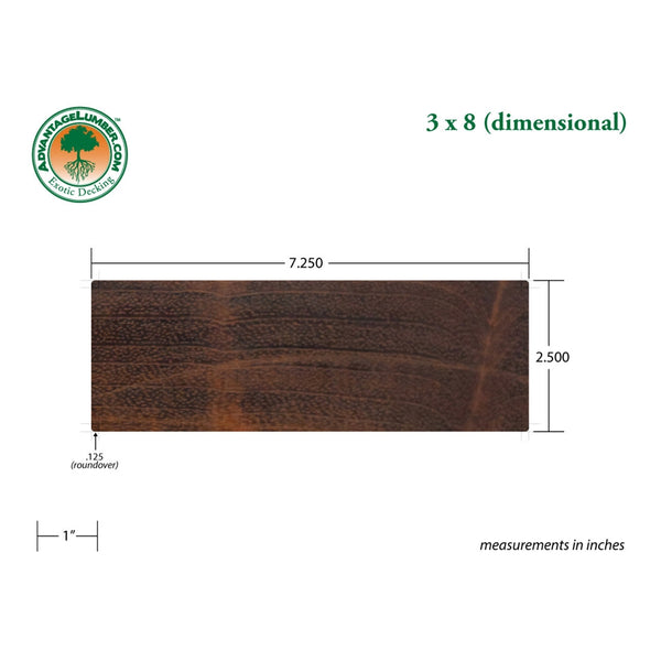 3 x 8 Brazilian Cherry Beam