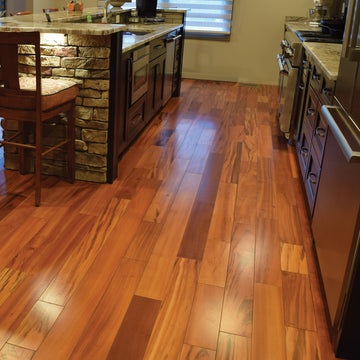 "Tigerwood Flooring - 5"" Unfinished Solid Hardwood"