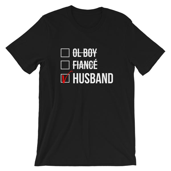 Husband Checked Box (Dark) T-Shirt
