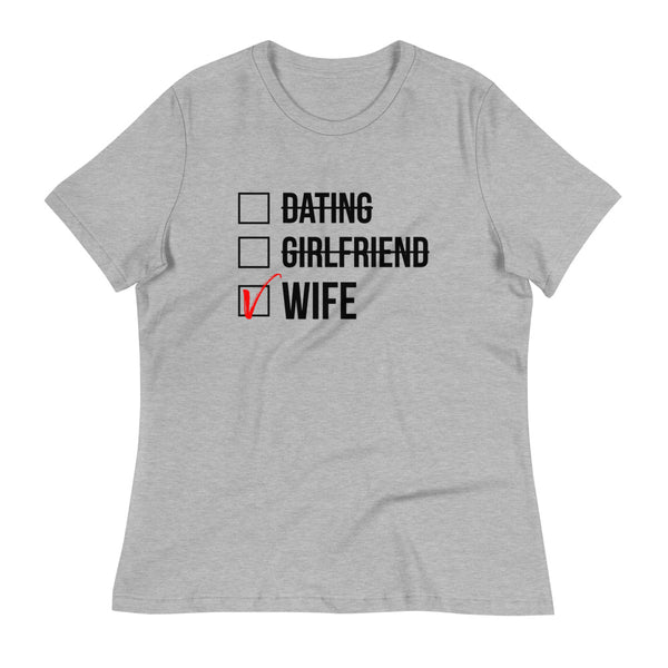 Wife Checked Box (Light) Women's Relaxed T-Shirt