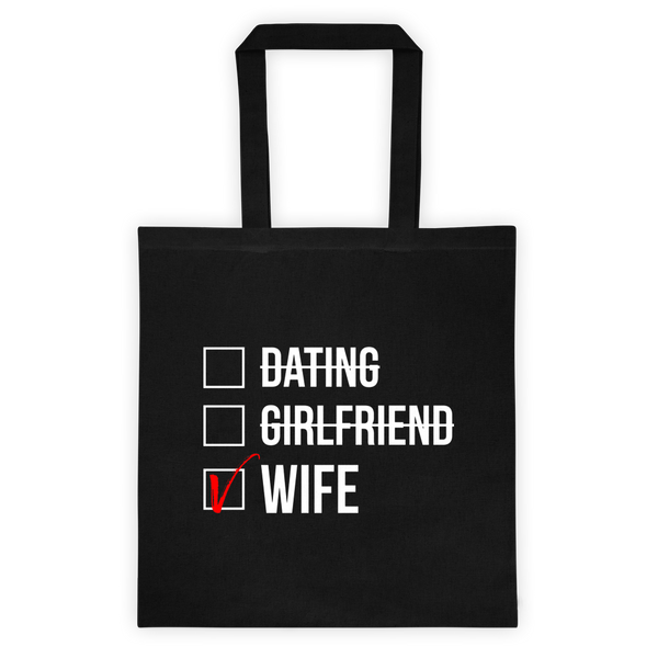 Wife Checked Box (Dark) Women's Tote Bag