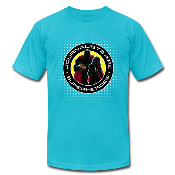 Journalists Are Superheroes (Women) T-Shirt - turquoise