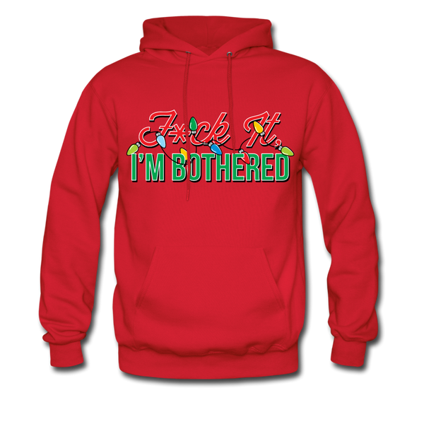 F*ck It, I'm Bothered (Xmas Lights) Hoodie - red