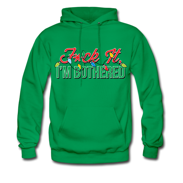 F*ck It, I'm Bothered (Xmas Lights) Hoodie - kelly green