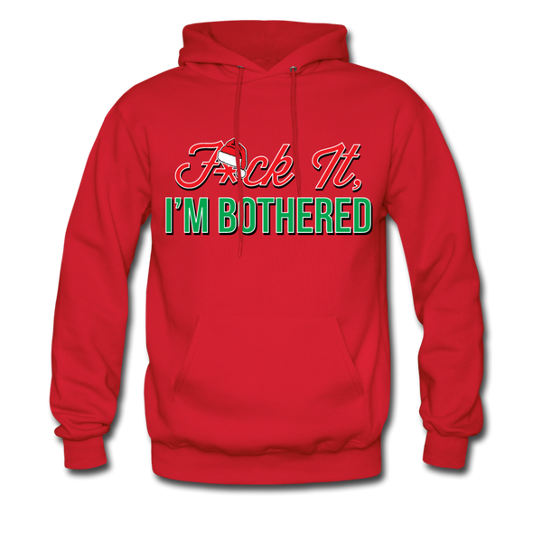 F*ck It, I'm Bothered (Santa) Hoodie - red