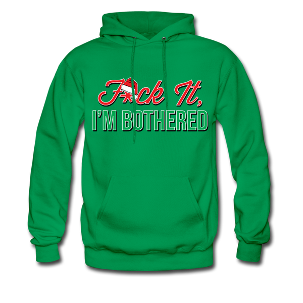 F*ck It, I'm Bothered (Santa) Hoodie - kelly green