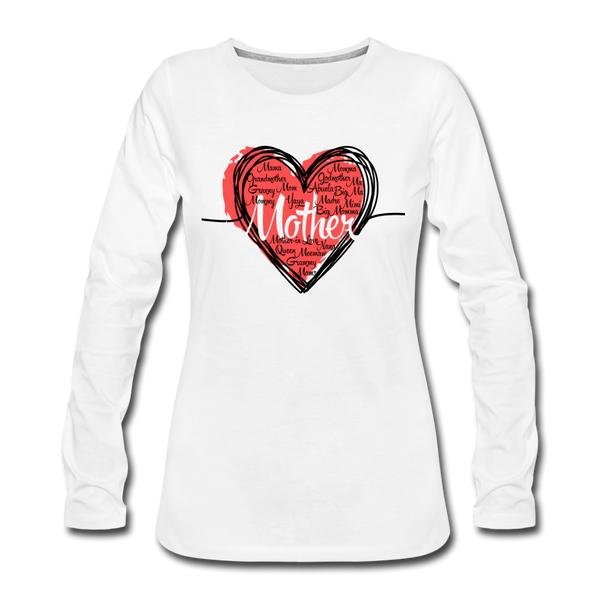 Mother Heart Long Sleeve (light) - white