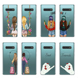 Best Friends Forever silicone Phone Cases Galaxy S6 S7 Edge S8 S9 S10