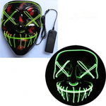 LED Halloween Party Mask That Glows In The Dark