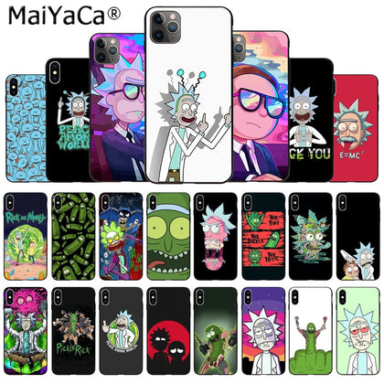 Silicone Luxury Rick And Morty Phone Case For iPhone 11Pro/ 7/8/6/ 6S Plus/ X/ XS Max/XR