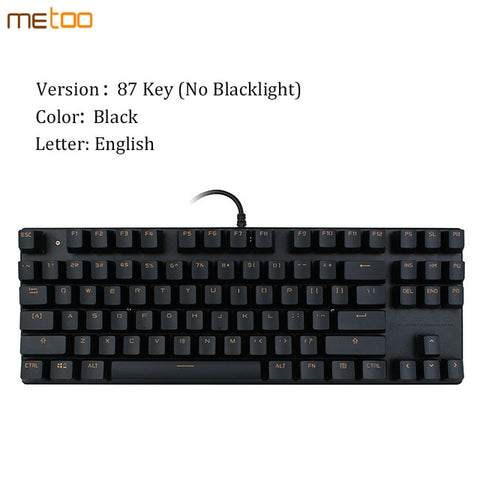 Mechanical English/Russian Gaming Keyboard With Blue/Red/Black Switch