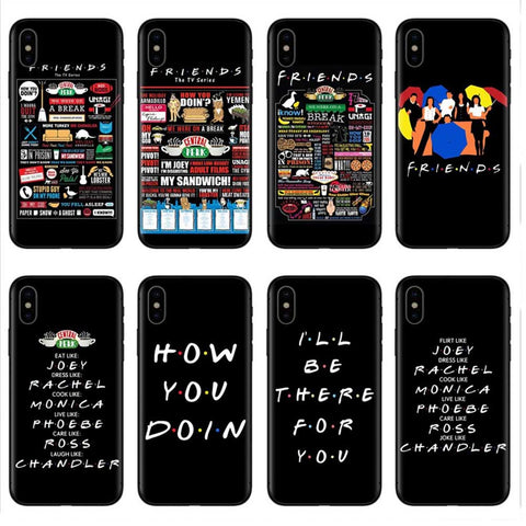 Central Perk Black Silicone iPhone Cases