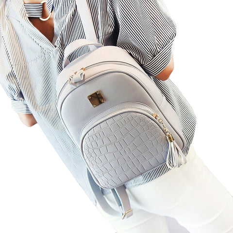 School Leather Backpack For Teenagers
