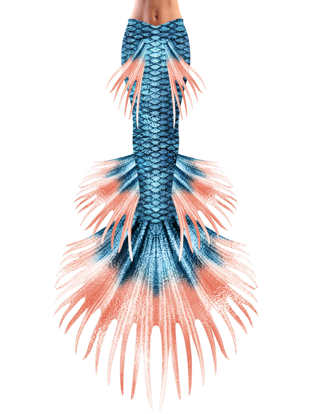 Blue Jean Baby Crown Betta Mermaid Tail