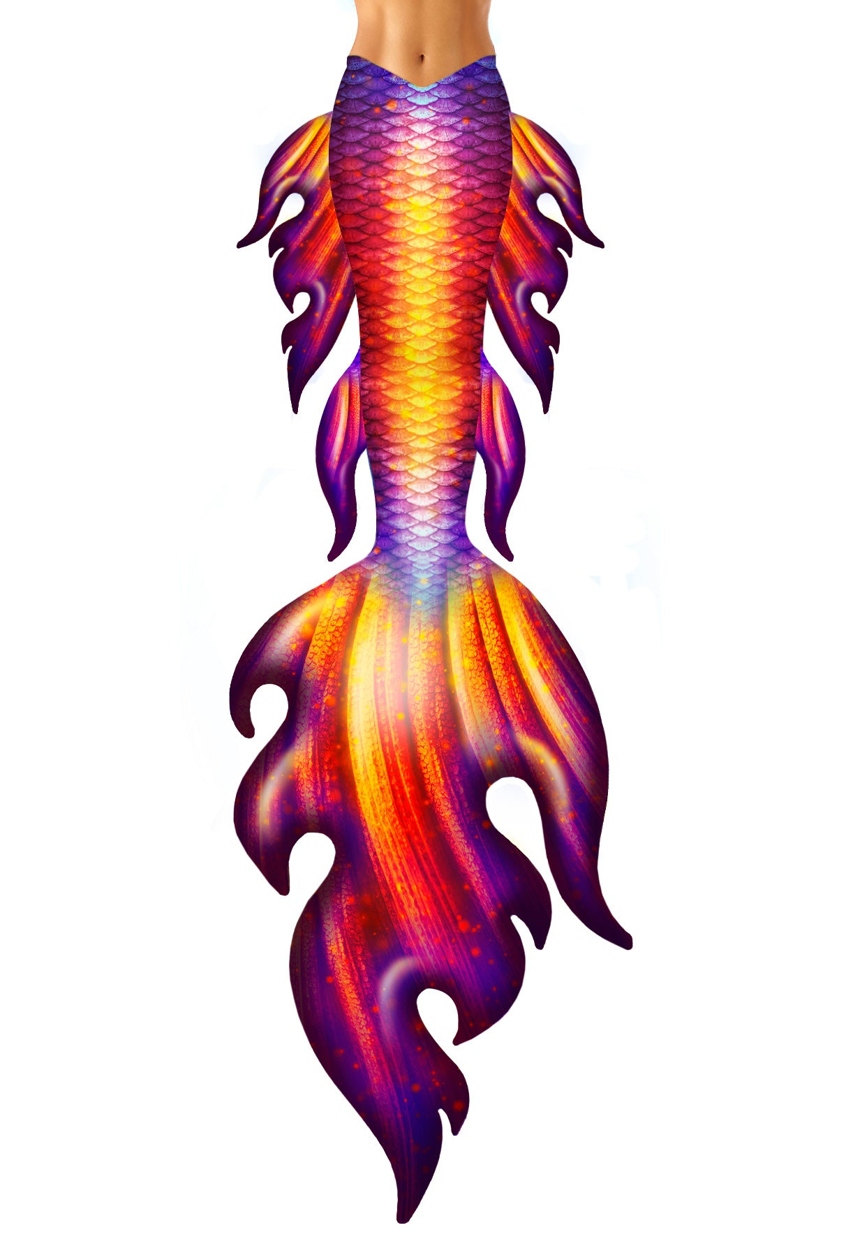 Fire Mermaid Tail