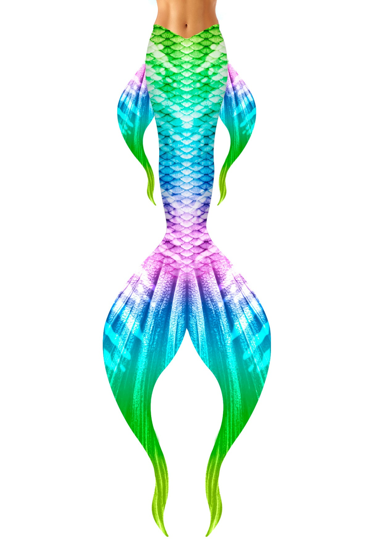 Pastel Rainbow Mermaid Tail