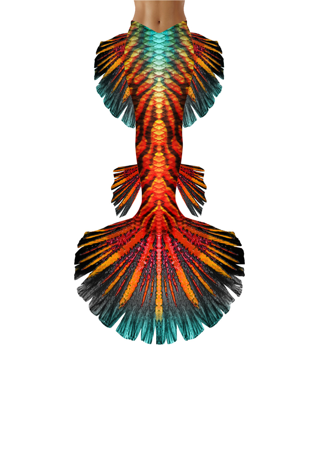 Tropic Tiger Mermaid Tail
