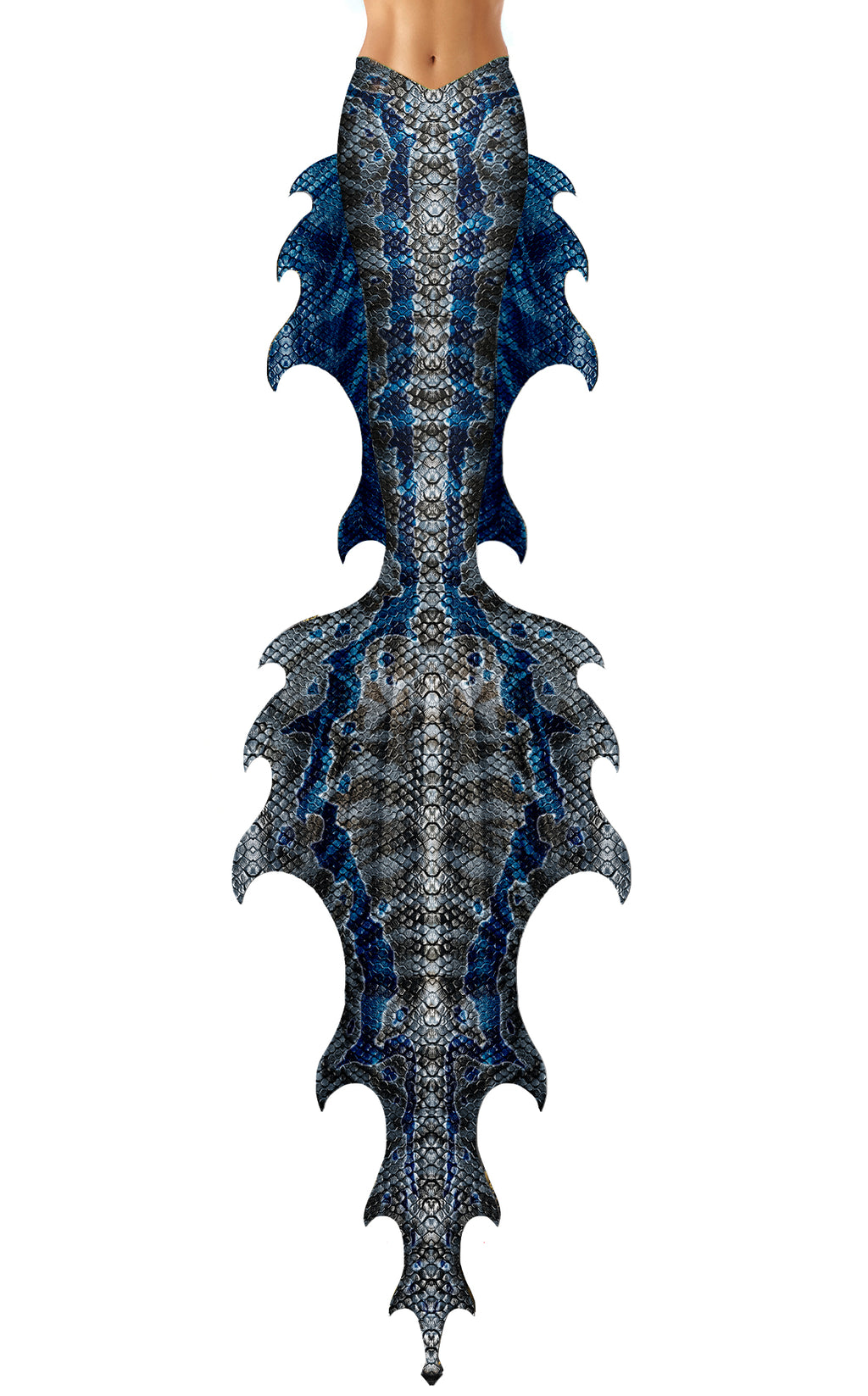 Blue Jurassic Mermaid Tail