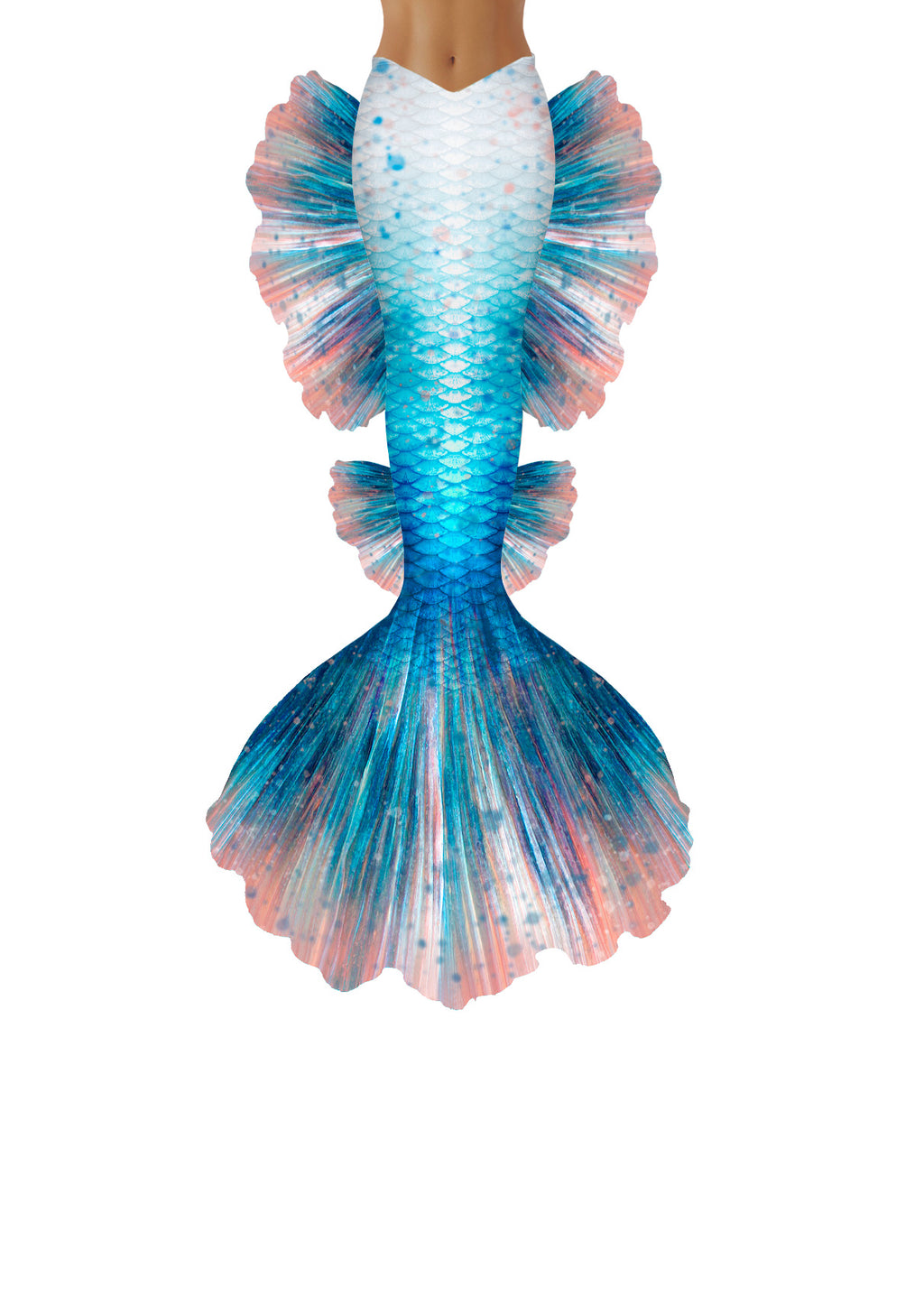 Freckled Betta Mermaid Tail