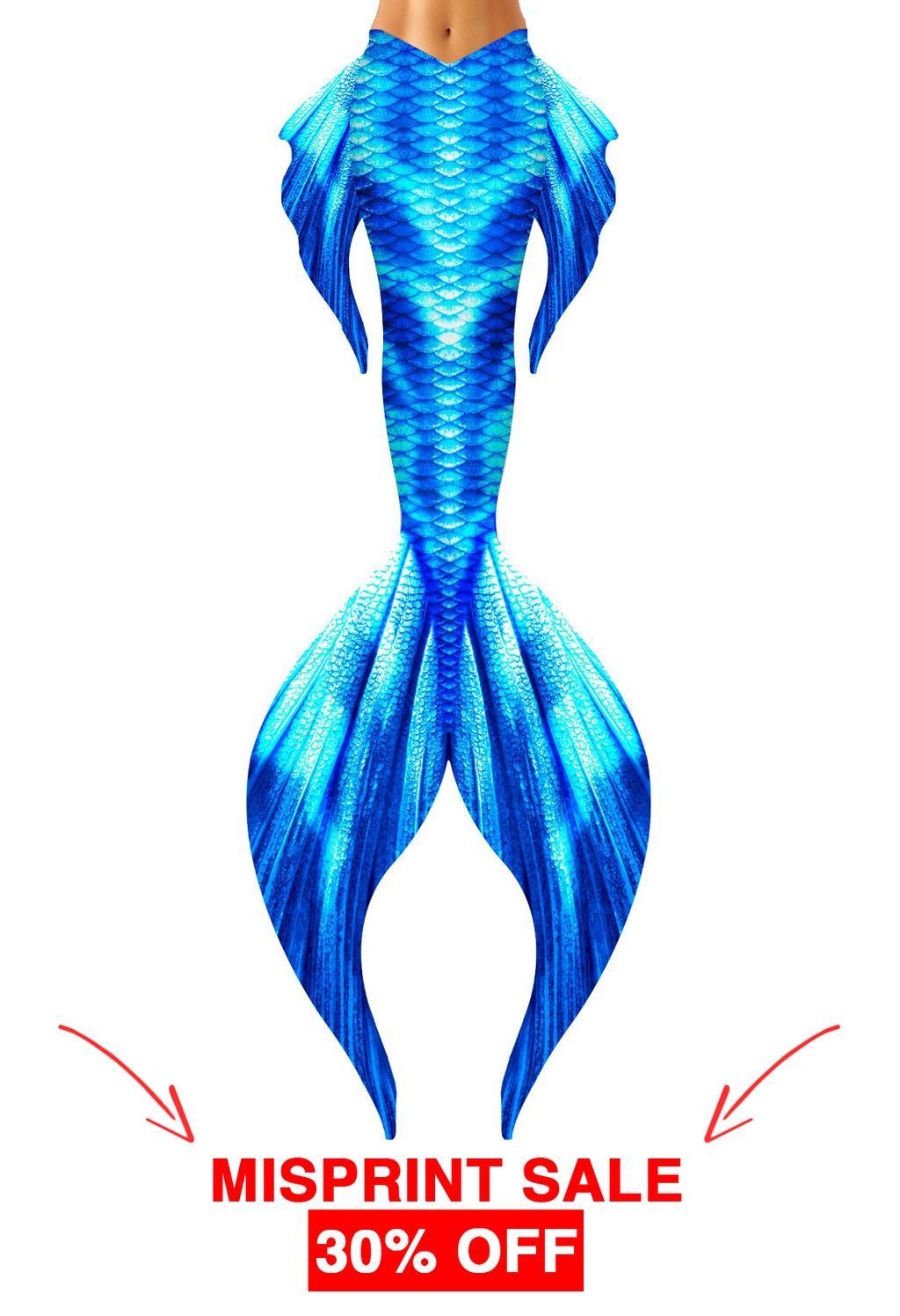 Ice Classic Mermaid Tail - Overprint