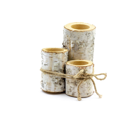 Small Birch Decor Holder Set