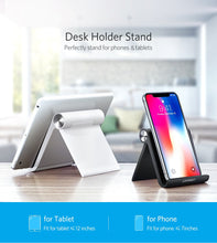 Load image into Gallery viewer, Foldable Cellphone Support Stand for iPhone X Tablet Samsung S10 All-in-one - 24sevendeal
