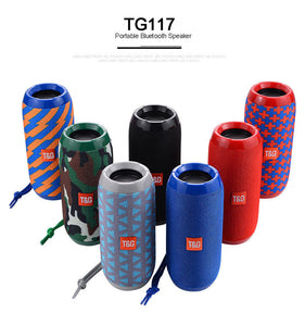 Outdoor Sports Waterproof Support Portable Speaker Wireless Bluetooth TF Card FM Radio Aux Input - 24sevendeal