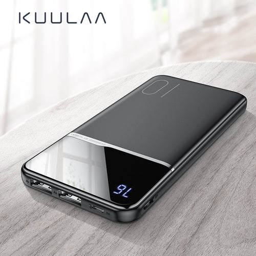 KUULAA 10000 mAh USB PoverBank External Battery Charger For Xiaomi Mi 9 8 iPhone - 24sevendeal