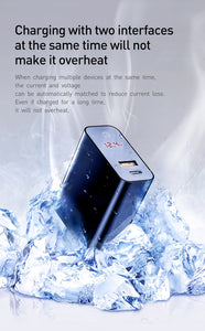 Fast Charger for iPhone  4.0 3.0 USB Smart Power-Off QC - 24sevendeal