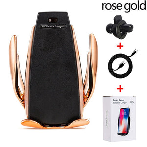 Fast Wireless Charging Car charger Holder Mount Air Vent for iPhone Xs Max XR Samsung - 24sevendeal