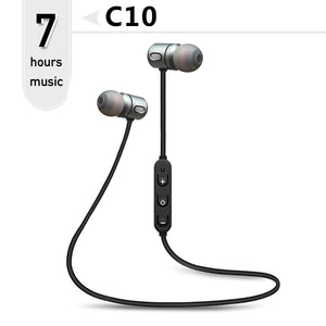 Bluetooth Headphones Bass neckband earbuds with Mic for phones xiaomi by FBYEG - 24sevendeal