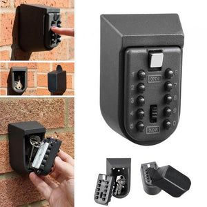 Key Safe Box Aluminium Alloy Wall Mounted Home Safety Password Security Lock Storage Boxes with Code HSJ-19