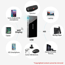 Load image into Gallery viewer, BYINTEK UFO P10 Portable Smart Home Theater Android 7.1.2 OS Wifi Mini HD LED dlp Projector For Full 1080P MAX 4K