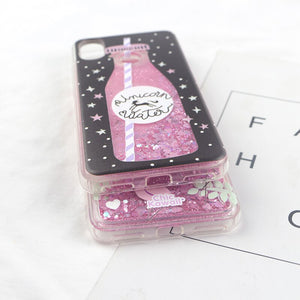 Love Heart Stars Glitter Case Max Dynamic Quicksand Cover