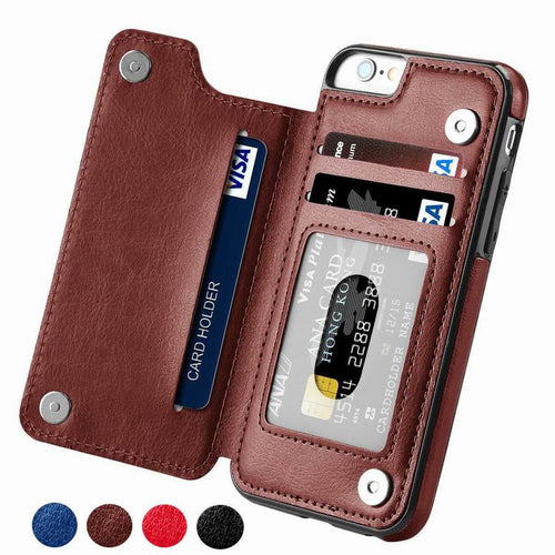 Luxury Slim Fit Premium Leather Cover For iPhone 11 Pro XR XS Max 6 6s 7 8 Plus 5S Shockproof Flip Shell