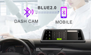 "New Car DVR Dashcam 4G 4 Channel ADAS Android 10"" Center console mirror GPS WiFi by  WHEXUNE"
