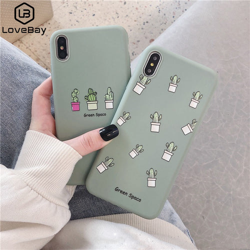 Lovebay Phone Case For iPhone 11 6 6s 7 8 Plus X XR XS 11Pro Max Cute Cartoon Letter Deer Smiley Face