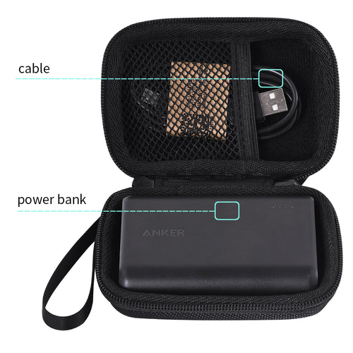 Travel Carrying Storage Case for Anker PowerCore Speed 10000 10000mAh QC Charge 3.0 Portable External Charger Battery Power Bank