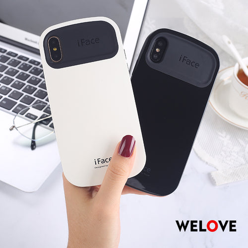 Luxury silicon iFace Anti-fall glossy hard phone case For iPhone 7 iphone XS Max XR X 8 7 6 6s plus by welove