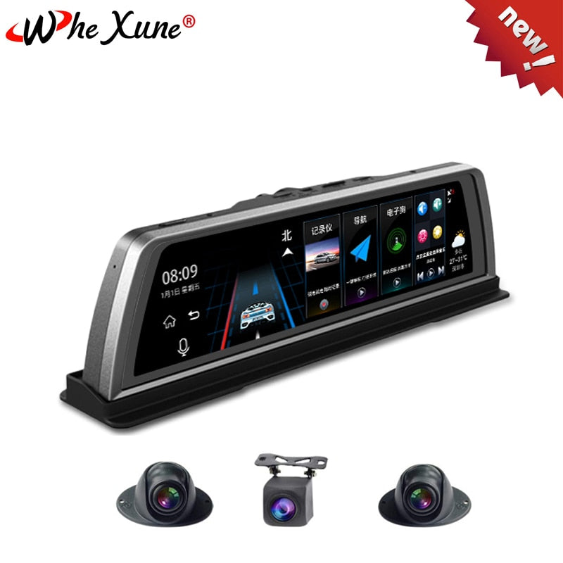New Car DVR Dashcam 4G 4 Channel ADAS Android 10