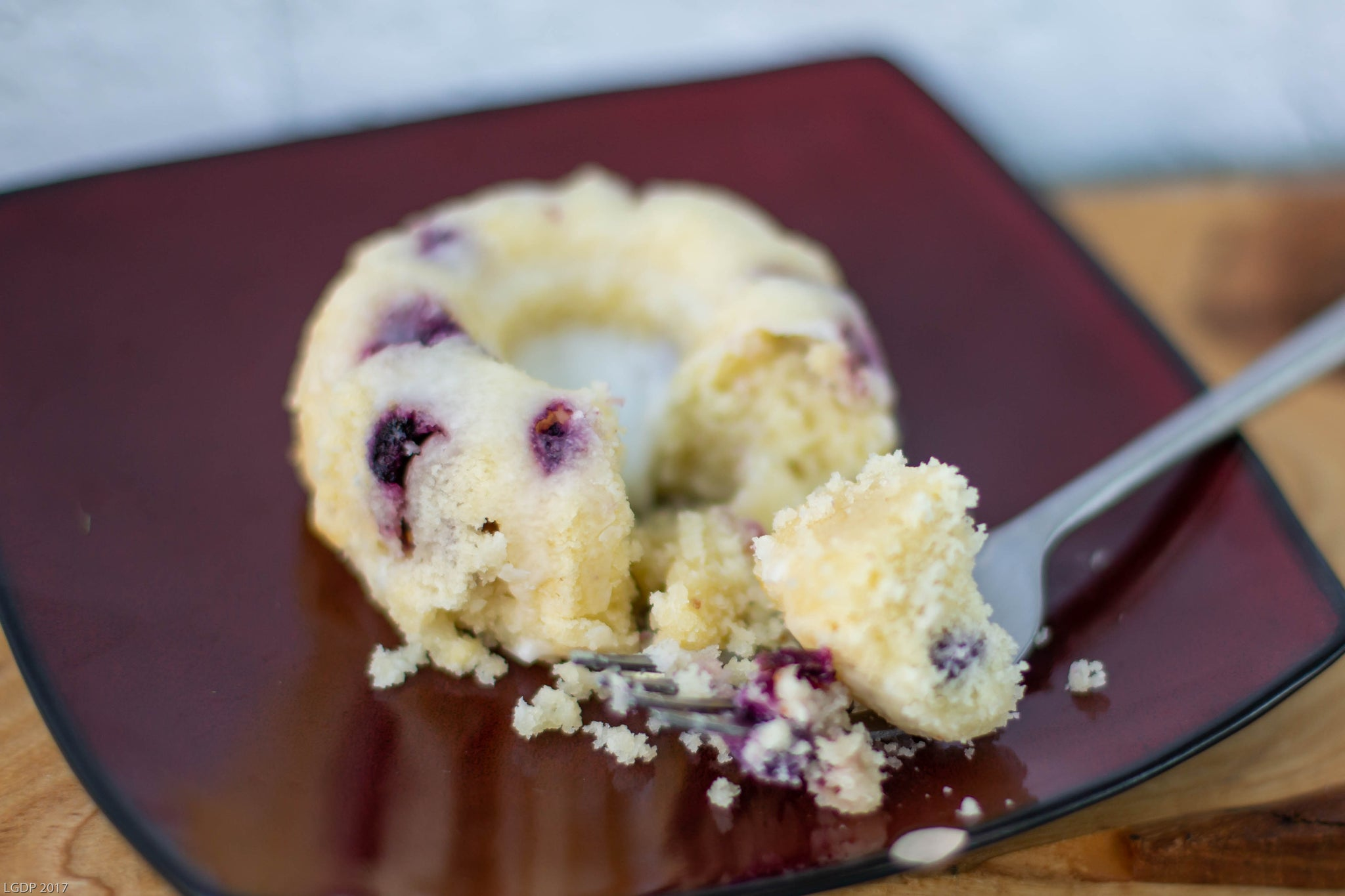 Blueberry Lemon Mini Bundt Cake