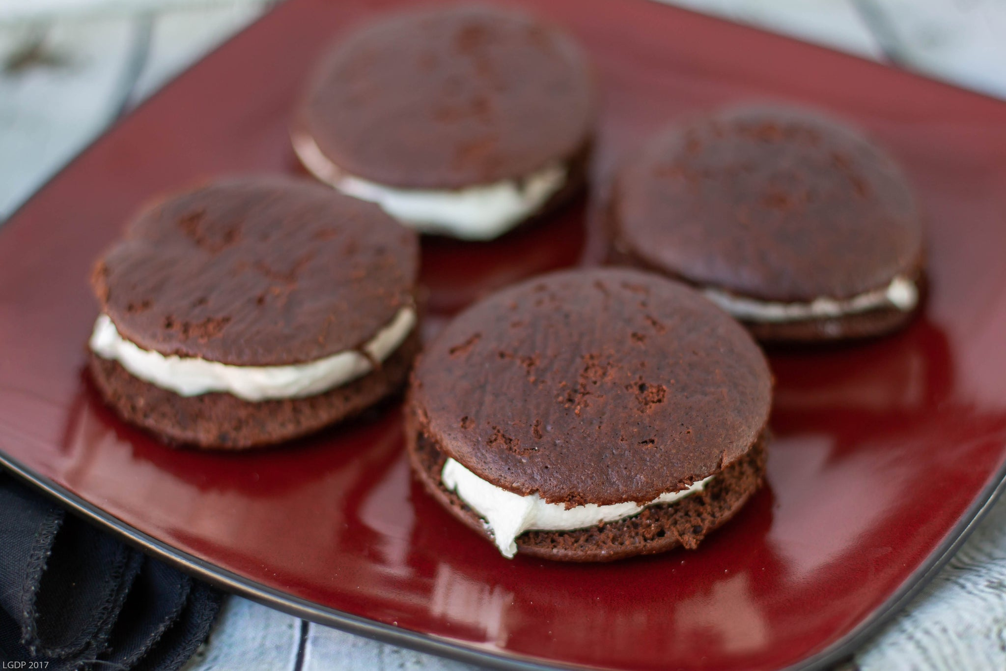 Chocolate Whoopie Pies w/ Vanilla Frosting (6ct.)