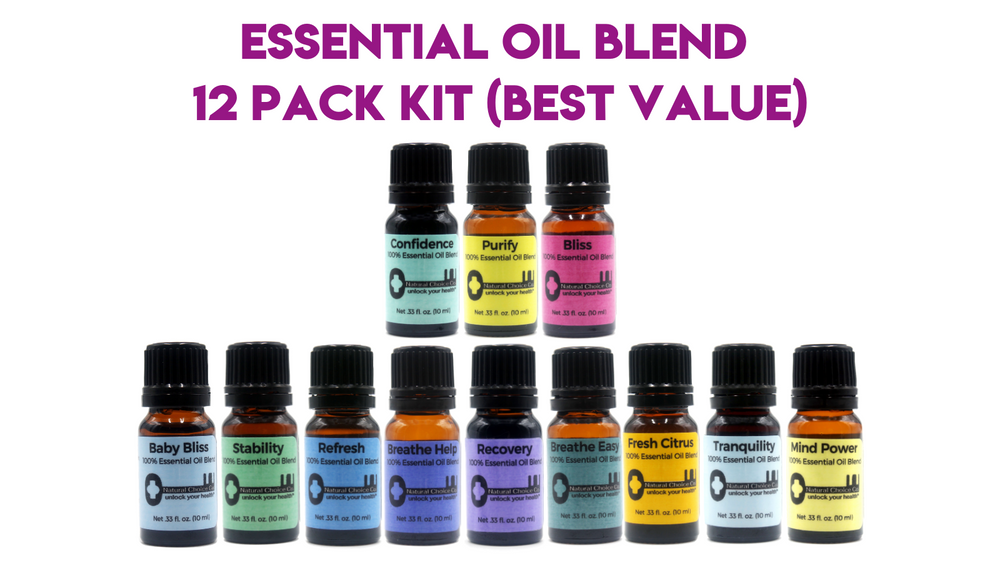 Essential Oil Blend 12 Pack Kit (Best Value) - Natural Choice Company