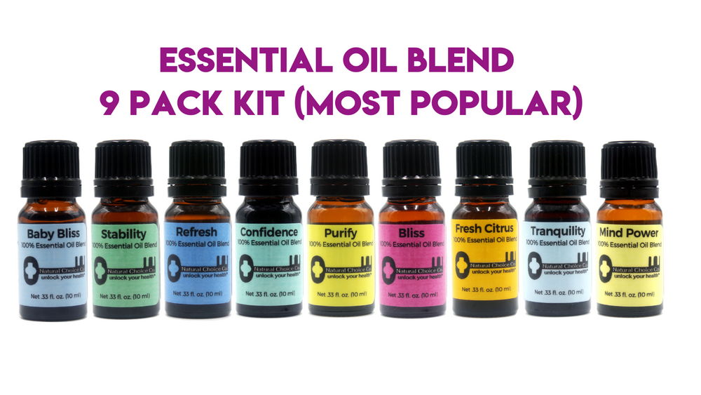 Essential Oil Blend 9 Pack Kit (Most Popular) - Natural Choice Company
