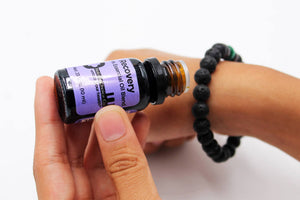 Aromatherapy Bracelet Tiger Eye: Dark Green, and Dark Blue - Natural Choice Company