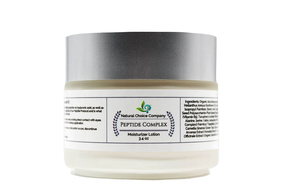 Peptide Complex Moisturizer Lotion  with Bergamot EO - 3.4oz - Natural Choice Company